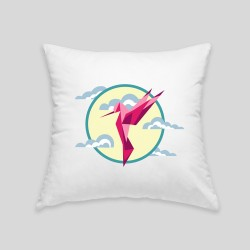 Hummingbird cushion